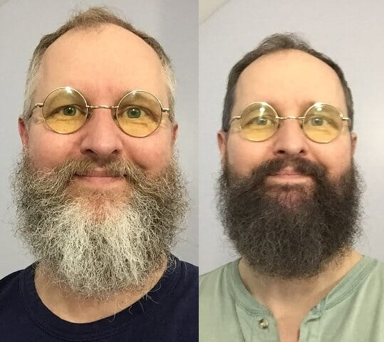 Dave before and after henna