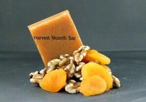 Natural walnut apricot soap bar
