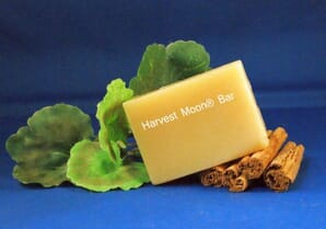 Natural cinnamon soap bar