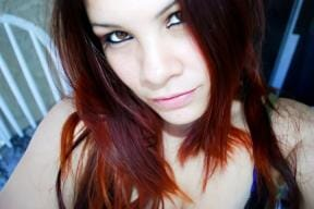 Deep Red Henna Hair Dye After