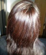 Before using burgundy henna hair dye