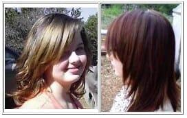 Deep red/brown mix using henna hair dye