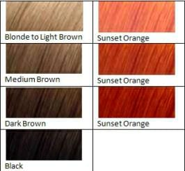 sunset orange hair dye color chart