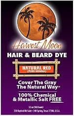 Natural red henna hair dye