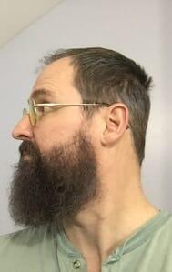 Dave after natural hair and beard dye